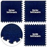 Floor Pad, SoftCarpets, Royal Blue, 10' x 12' Set, Total Sq. Ft.:120