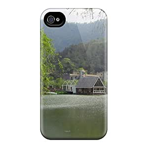 Premium Tranquil Lake Heavy-duty Protection Case For Iphone 4/4s
