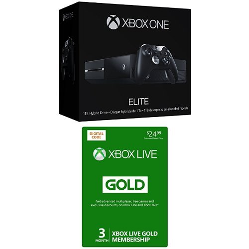 Xbox One 1TB Elite Console Bundle with Xbox Live 3 Month Gold Membership [Digital Code]