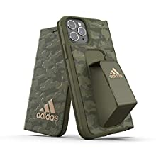 adidas Sports Compatible with iPhone 11 Pro Case, Folio Grip Handle Protective Booklet Phone Cover - Camo Green