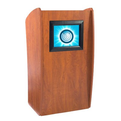 Oklahoma Sound 612-CH Basic Vision Podium with Digital Display, 24