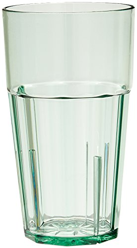 NEW, 16 Oz. (Ounce) Diamond Tumbler, Restaurant Tumblers, Beverage Cups, Stackable, Anti-Jam Locking Tabs, Starburst Base, Impact-Resistant Polycarbonate, Green – Set of 6