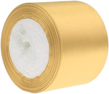 サテンリボン サテン ギフトパッキング 梱包 飾り 両面サテン プレゼント 多色選べ - ゴールド