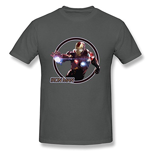 BOAIS Customized The Avengers Tony Stark Iron Man T Shirt For Men DeepHeather