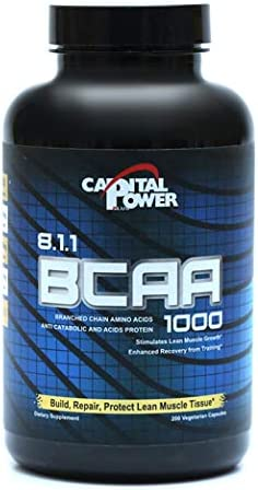 Capital Power Plus BCAA 8 1 1 Capsules Boost Recovery Endurance Strength 60 Servings
