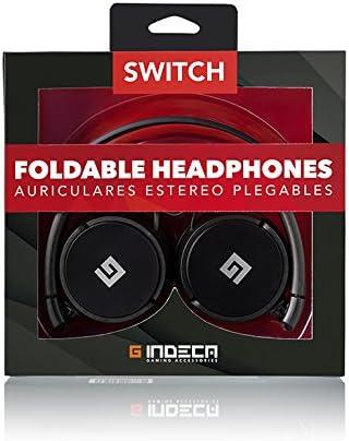 Indeca Gaming- Auriculares casco plegables para consola Nintendo ...
