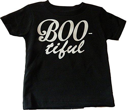 Custom Kingdom Baby Boys/Girls Boo-Tiful Halloween Trick Or Treat T-Shirt (2T, -