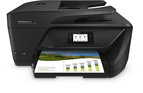 HP Officejet 6950 Multifunktionsdrucker (Drucker, Scanner, Kopierer, Faxen, HP Instant Ink, Duplex, WLAN, LAN, HP ePrint, Apple Airprint, USB, 600 x 1.200 dpi) schwarz