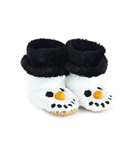 (Little Blue House by Hatley Kids' Little Hi-top Slouch Animal Slipper, Snowman, Large (11-13))