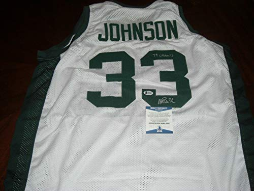 Magic Johnson Michigan State 1979 Champs Last One Beckett/Coa Autographed Signed Jersey - Authentic Memorabilia ()