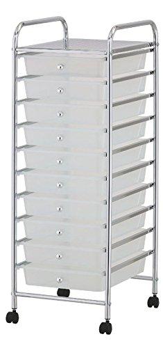 Puregadgets© estantería con 4cajones de almacenamiento carrito portátil para
