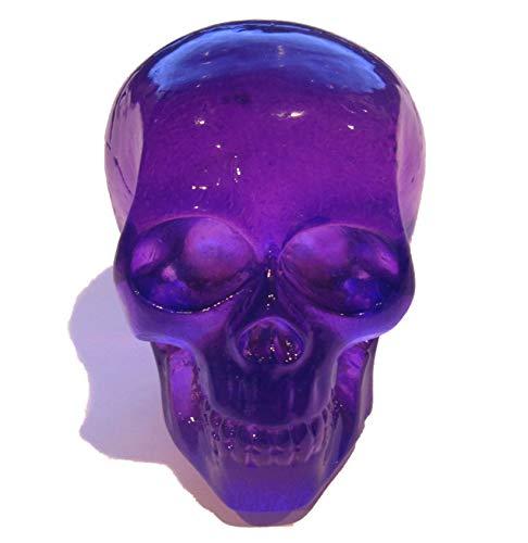 (Kool Collectibles Clear Purple Skull Shifter Shift Knob Rat Rod Lever )