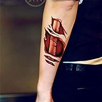 Aeromdale Halloween Zombie Scars Tatuajes con costra Artificial ...