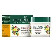 Biotique Bio Fruit Whitening Lip Balm lightens & Evens-Out Lip Tones 12gm I Legal...