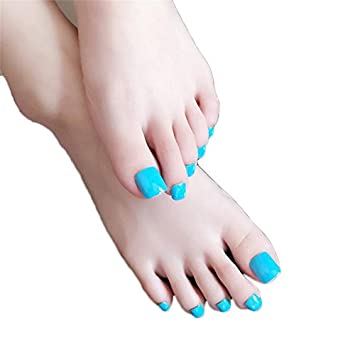Amazon False Toe Nail Tips With Design Press On Nails With