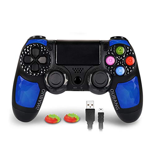PlayStation 4 DualShock 4 Controller - OUBANG PS4 Controller Wireless Remote Control with Sixaxis (Sapphire)