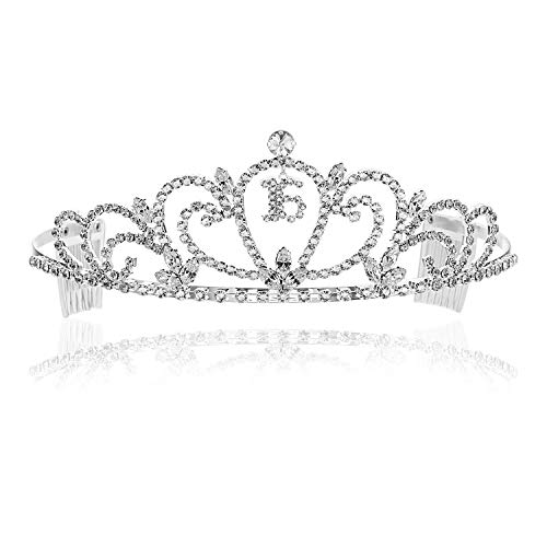 SAMKY Crystal Birthday Tiara Crown 15/16/18/21/30/40/50/60/70/80th - Sweet 16th -
