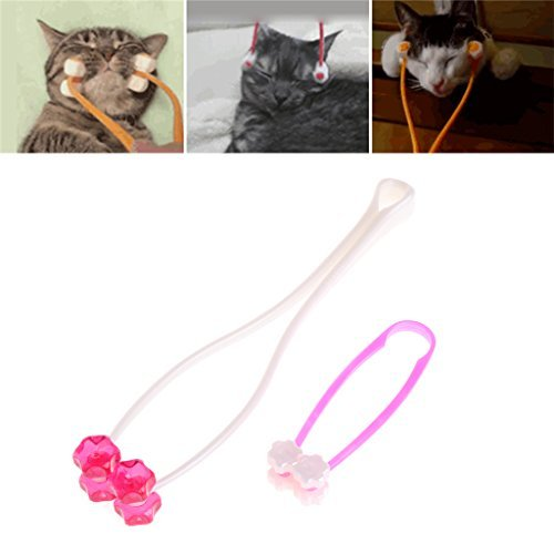 10 Mm Dog Cat (OHTOP Cat Face Massager - 1X Puppy Dog Cat Thin Face Massager Feet Legs Relief Grooming Tool - Small - 4.72''x1.30'')