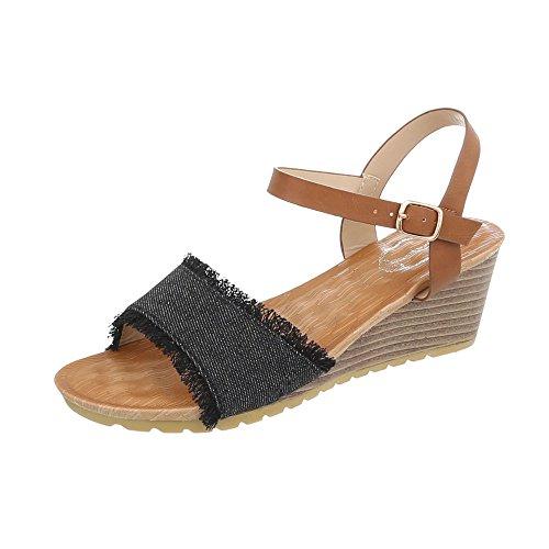 Para de Vestir a Mujer Zapatos Negro Plataforma Ital de Sandalias Cu Design Sandalias wqWOXnEY