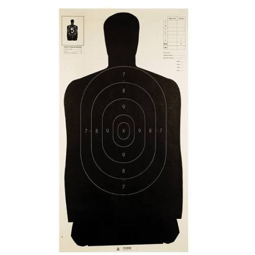 Champion Traps and Targets LE B27 Black Police Silhouette Target (Pack of - Target Gun Champion