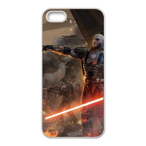 Star Wars The Force Unleashed 2 4 coque iPhone 4 4s cellulaire cas coque de téléphone cas blanche couverture de téléphone portable EEECBCAAN00130