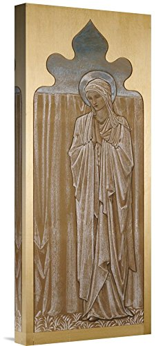 Global Gallery Budget GCS-264642-22-142 Sir Edward Burne-Jones The Virgin Mary: A Cartoon for Stained Glass Gallery Wrap Giclee on Canvas Print Wall Art