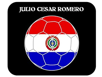 Amazon.com: Julio Cesar Romero (Paraguay) Soccer Mouse Pad ...