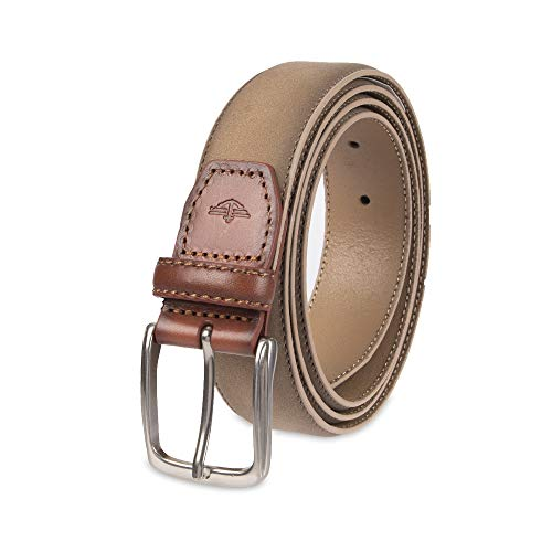 (Dockers Men's Casual Leather Belt - 100% Soft Top Grain Genuine Leather Strap with Classic Prong Buckle, Tan, Small)