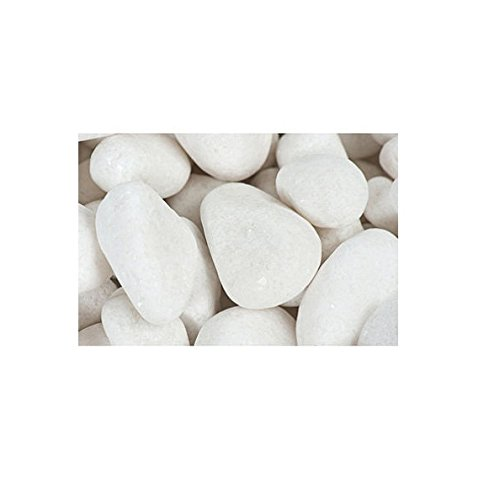 Margo 30lb. Decorative Pebbles River Rocks Colored Stones Medium Snow White Pebbles 1 in. to 2 in.
