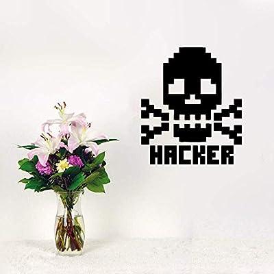 Typai Wall Sticker Quotes Decals Decor Vinyl Art Stickers Skull Bones Hacker Character Computer