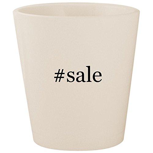 #sale - White Hashtag Ceramic 1.5oz Shot Glass