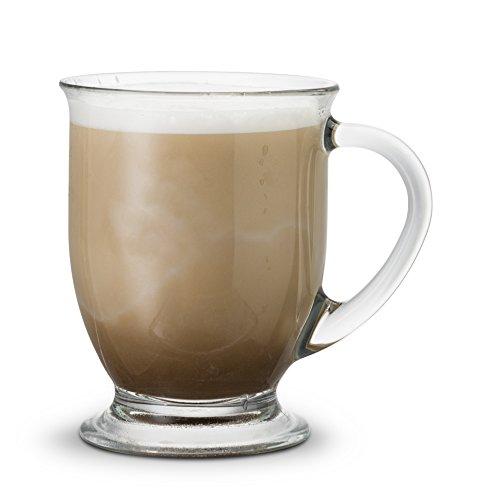 Review KooK Café Coffee Or Tea Glass Hot Mugs Set 15oz (Set of 6)