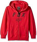 Fox Boys' Big Youth Legacy Logo Zip Hooded Sweatshirt - Dark red - YS