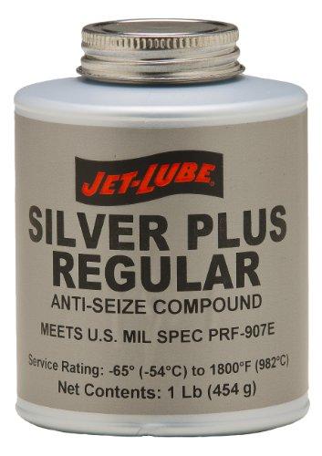 Jet-Lube Silver Plus Regular Grade Anti Seize and Thread Lubricant, 1 lbs Brush Top - Silver Anti Seize Lubricant
