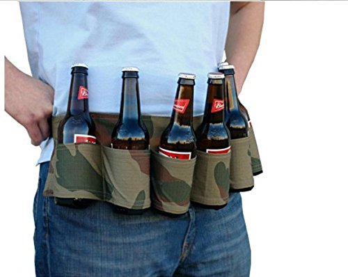 Marsupio da cintura con cintura da birra Six Pack per esterno Color : Black Dewin Beer Holder porta bibite portatile