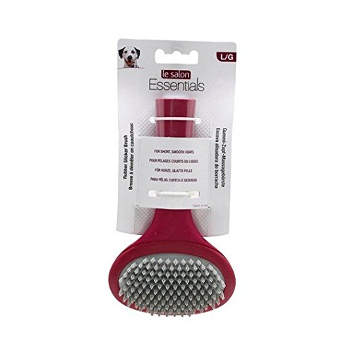 Le Salon Rubber (Le Salon Essentials Rubber Slicker Dog Brush, Large)