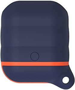 Airpod Silicone Case Cover EYMEN, Premium Quality Waterproof Shock Resistant Case for Apple AirPods (Navy)