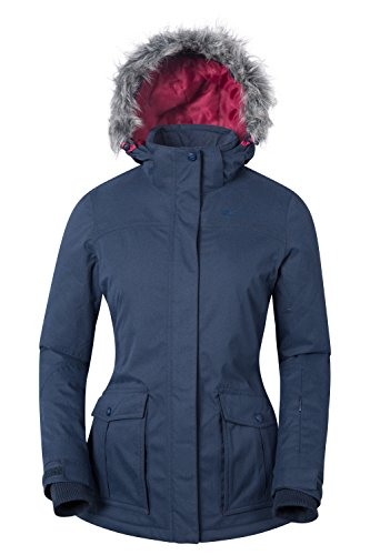 Mountain Warehouse Braddock Womens Ski Jacket –Waterproof Ladies Coat Navy - Suit Warehouse