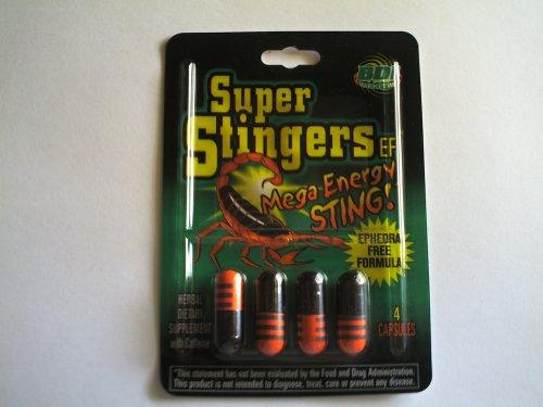 Stingers Super Mega énergie Ephedra gratuit 96 comprimés