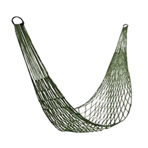 Nylon Weave Rope Hammock Swing Outdoor Single Lounge Bed 220lb Capacity Green