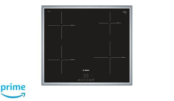 Bosch PUE645BB1E - Placade inducción ,Integrable, Terminación en acero, 17 niveles de potencia, Color negro: 320.27: Amazon.es: Grandes electrodomésticos