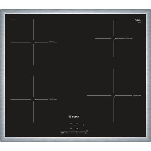Bosch Serie 4 PUE645BB1E – Placa de inducción, 60 cm, 17 niveles de potencia, 3 zonas de cocción, Control táctil, Color…