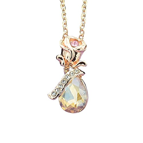 Topgee Cute Little Necklace Gold Color Stainless Steel Chain & Pendant Honeycomb Pendant Polygonal Honeybee Necklace Jewelry Ornament for Women & Lady