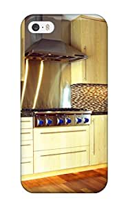 For Iphone 5/5s Tpu Phone Case Cover(midcentury Modern Kitchen With Light Wood Cabinets Wood Floor Amp Dual Ovens)
