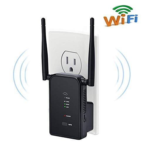WiFi Extender Long Range Wi-Fi Repeater Wireless Access Point Signal Booster Mini Router Expand WiFi to WiFi Dead Zones, 2 External Antennas for Better Reception and Faster Internet Surfing - 300Mbps