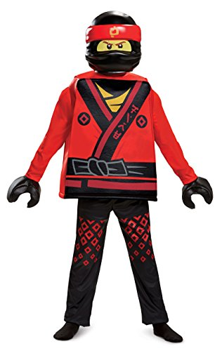 Disguise Kai Lego Ninjago Movie Deluxe Costume, Red, Medium (7-8)