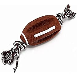 SaveStore Dog Toys Rugby for Pets Dogs Chew Toy Solid Silicone Ball Toys for Dog Rope Pet Toys Interactive All Seasons Pet Products