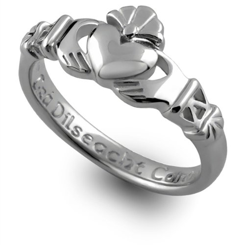 Sterling Silver Claddagh Promise Ring PROMISE2 - Size: 7 Made in IRELAND.