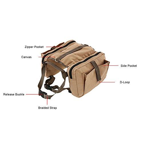 Lixada Hound Travel Camping Hiking Backpack Saddle Bag Rucksack Dog Pack for Medium or Large Dog by Lixada (Image #2)