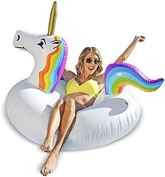 GoFloats Unicorn Party Tube Inflatable Float